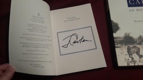 Jimmy Carter's autograph