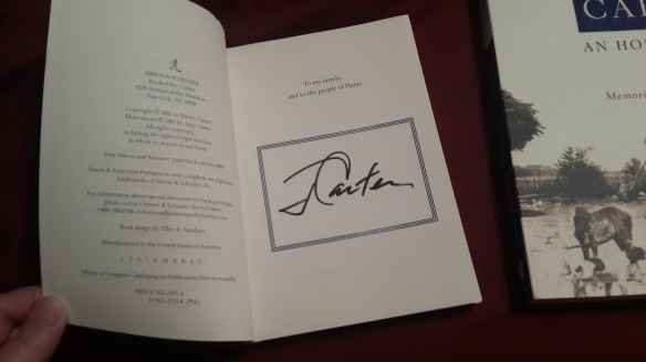 Jimmy Carter's autograph